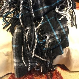 "Authentic Burberry ""Happy"" Double Fringe Scarf"